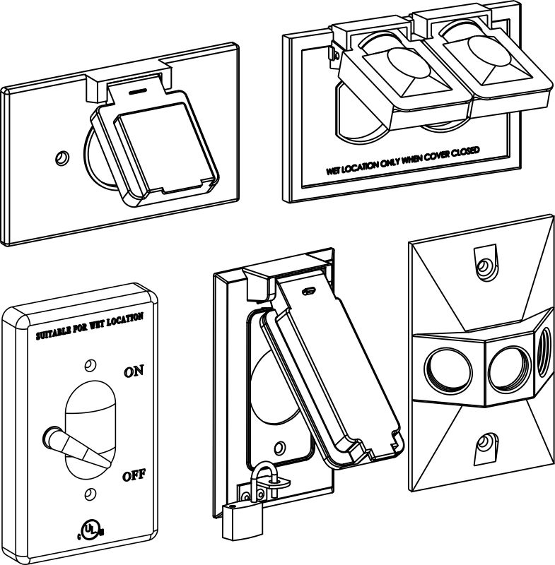 1-Gang Blank And Device Covers