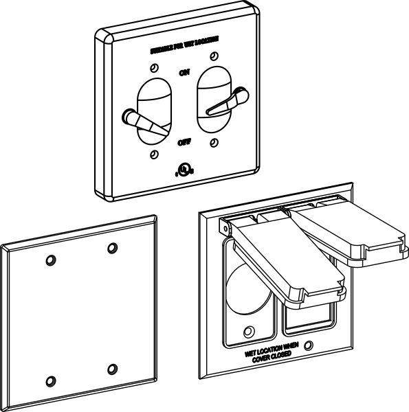 2-Gang Blank And Device Covers