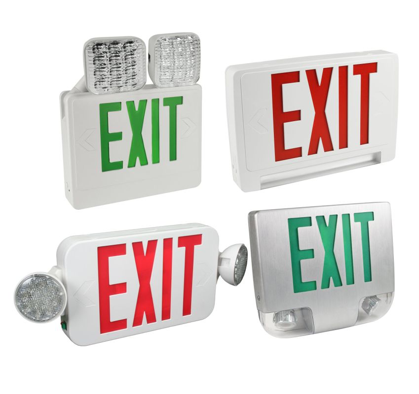 Exit Sign & Emergency Light Combo