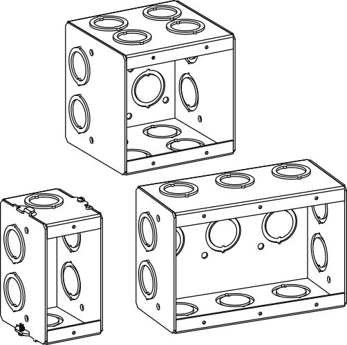 masonry boxes - electrical junction boxes