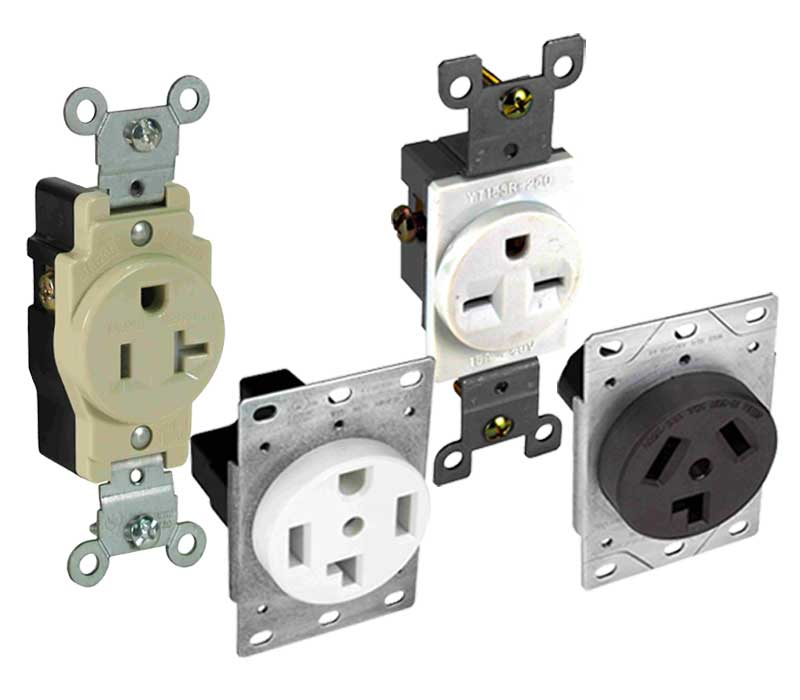Straight Blade Receptacles - Receptacles - Wiring Devices