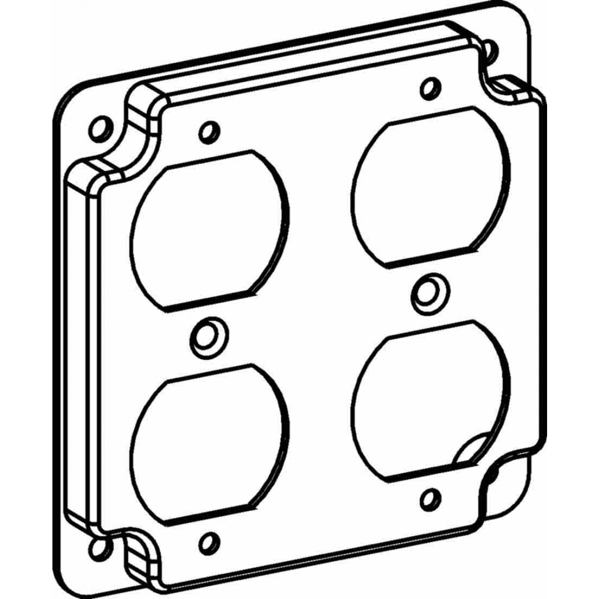 4422 - 4s industrial covers - 4s rings and covers - electrical box covers and rings
