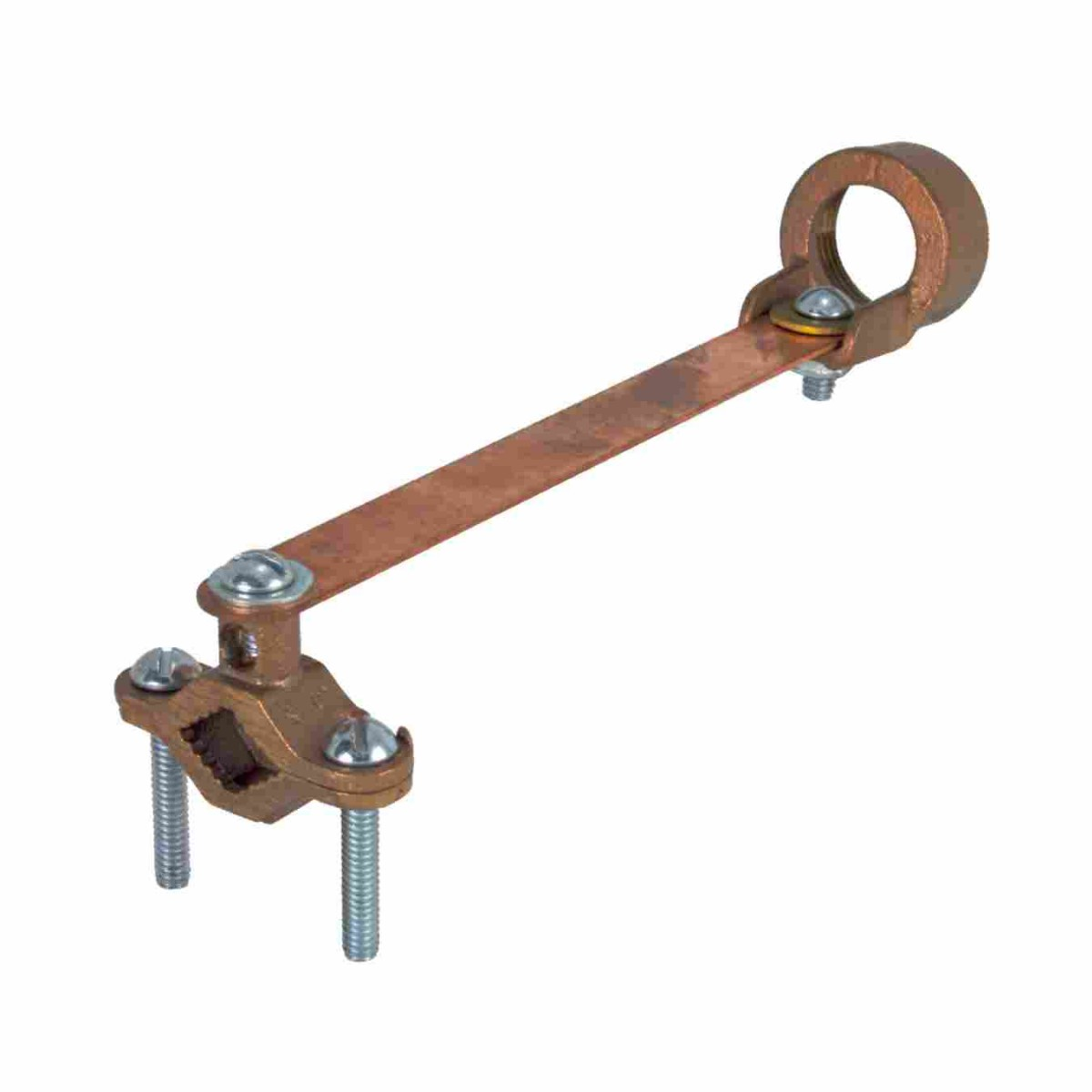 Bronze ground clamps for rigid conduit with flexible