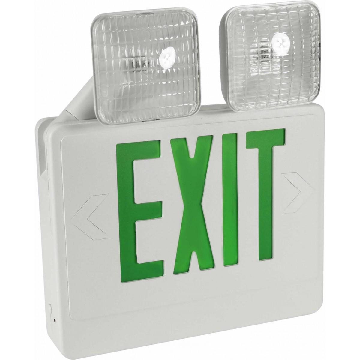 eecla exit sign emergency light combo exit. Black Bedroom Furniture Sets. Home Design Ideas