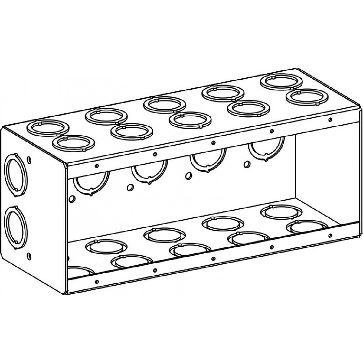 mb-5 - masonry boxes - electrical junction boxes