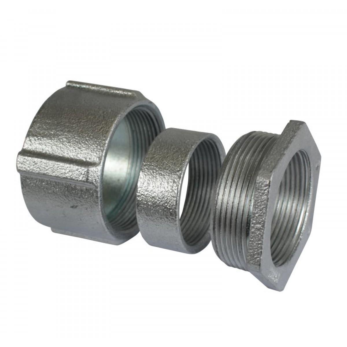 Malleable iron three piece rigid conduit couplings