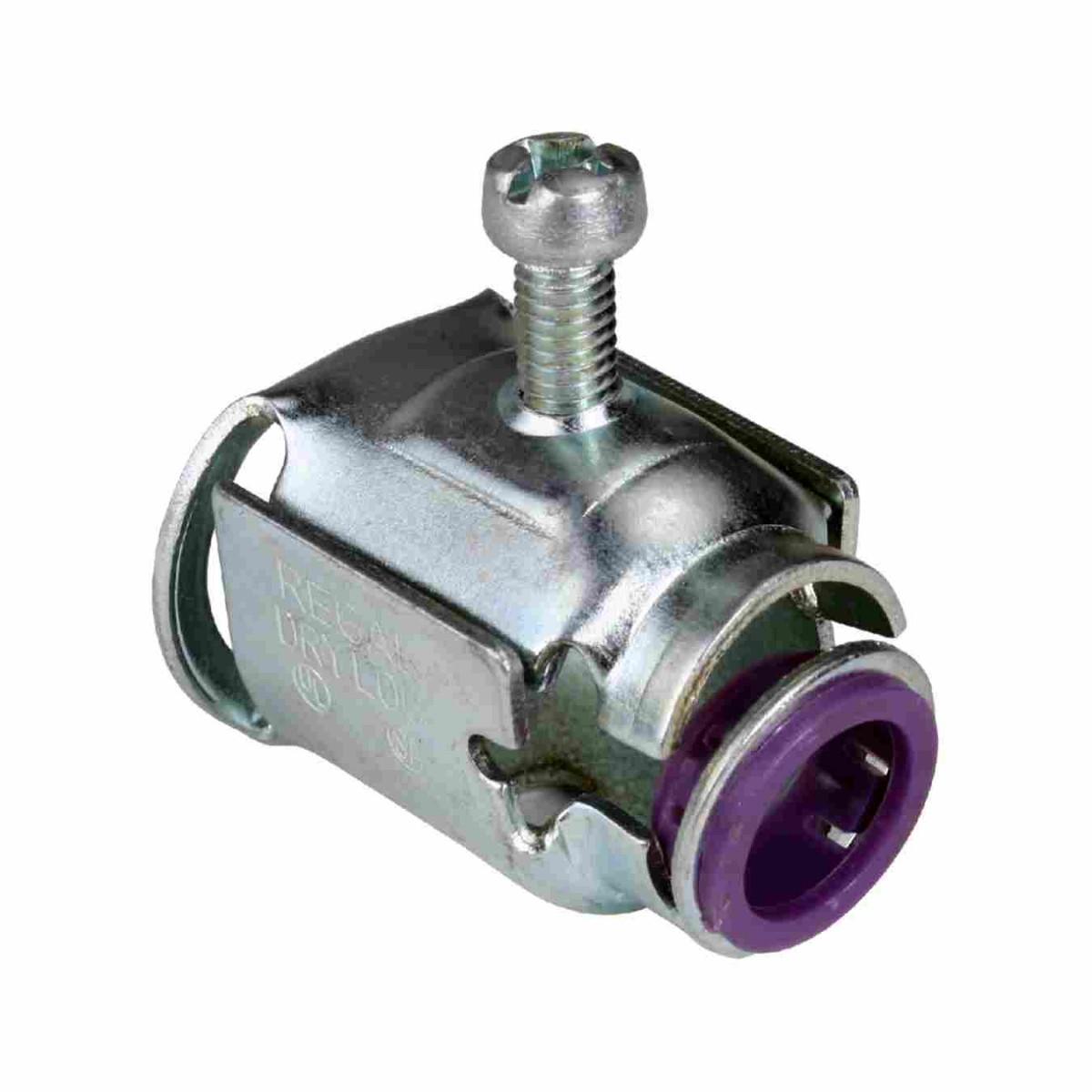 Steel quot fastlock wide throat connectors flex ac mc
