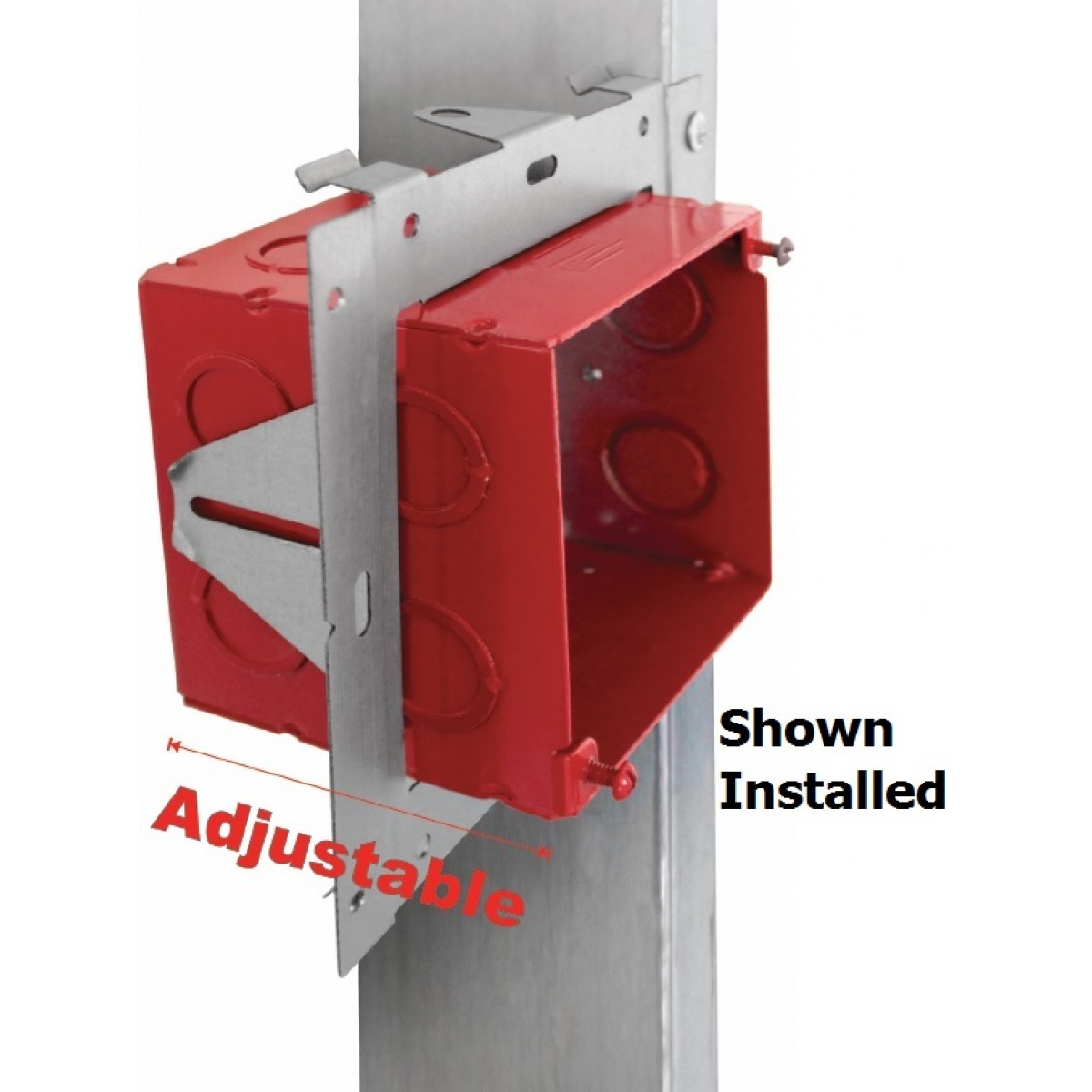 Universal Mounting Adjustable Boxes Box Industrial Plastic Waterproof Electrical Junction Fa Umab Directly On Stud