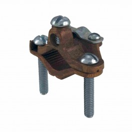 BRONZE ARMORED GROUND CLAMPS - STEEL SCREW
