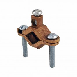 BRONZE BARE GROUND CLAMPS - STEEL SCREW
