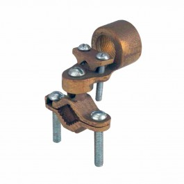BRONZE GROUND CLAMPS WITH ADAPTER FOR RIGID CONDUIT