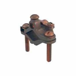 BRONZE DIRECT BURIAL ARMORED GROUND CLAMP - BRONZE SCREW