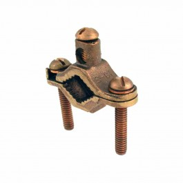 BRONZE DIRECT BURIAL BARE GROUND CLAMPS - BRONZE SCREW