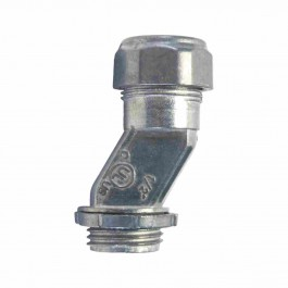 ZINC DIE-CAST EMT OFFSET CONNECTORS COMPRESSION TYPE