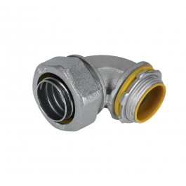 MALLEABLE IRON LIQUID TIGHT CONN. 90 ANGLE INSULATED THROAT