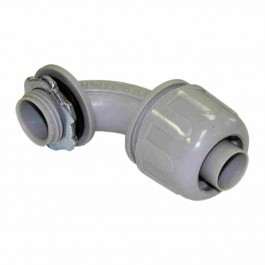 NON-METALLIC (PVC) LIQUID TIGHT CONNECTORS 90° ANGLE