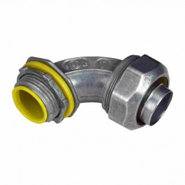 ZINC DIE-CAST LIQUID TIGHT CONN.  90° ANGLE INSULATED THROAT