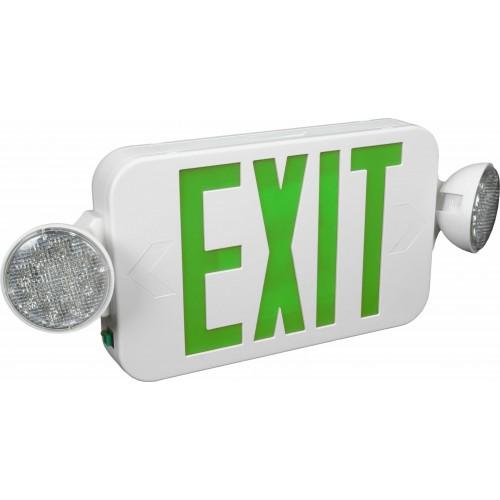 eeclm led exit sign emergency light combo exit. Black Bedroom Furniture Sets. Home Design Ideas