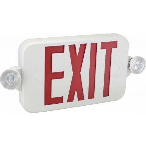 eecmpl exit sign emergency light combo exit. Black Bedroom Furniture Sets. Home Design Ideas