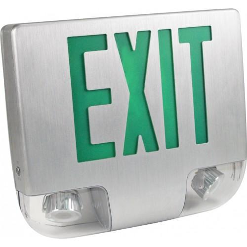 Eesla Led Exit Sign Amp Emergency Light Combo Exit