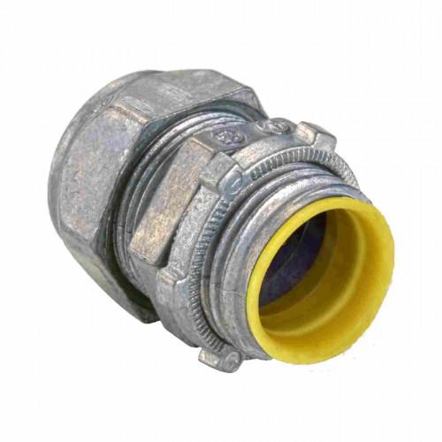 Zinc die cast emt connectors compression type insulated