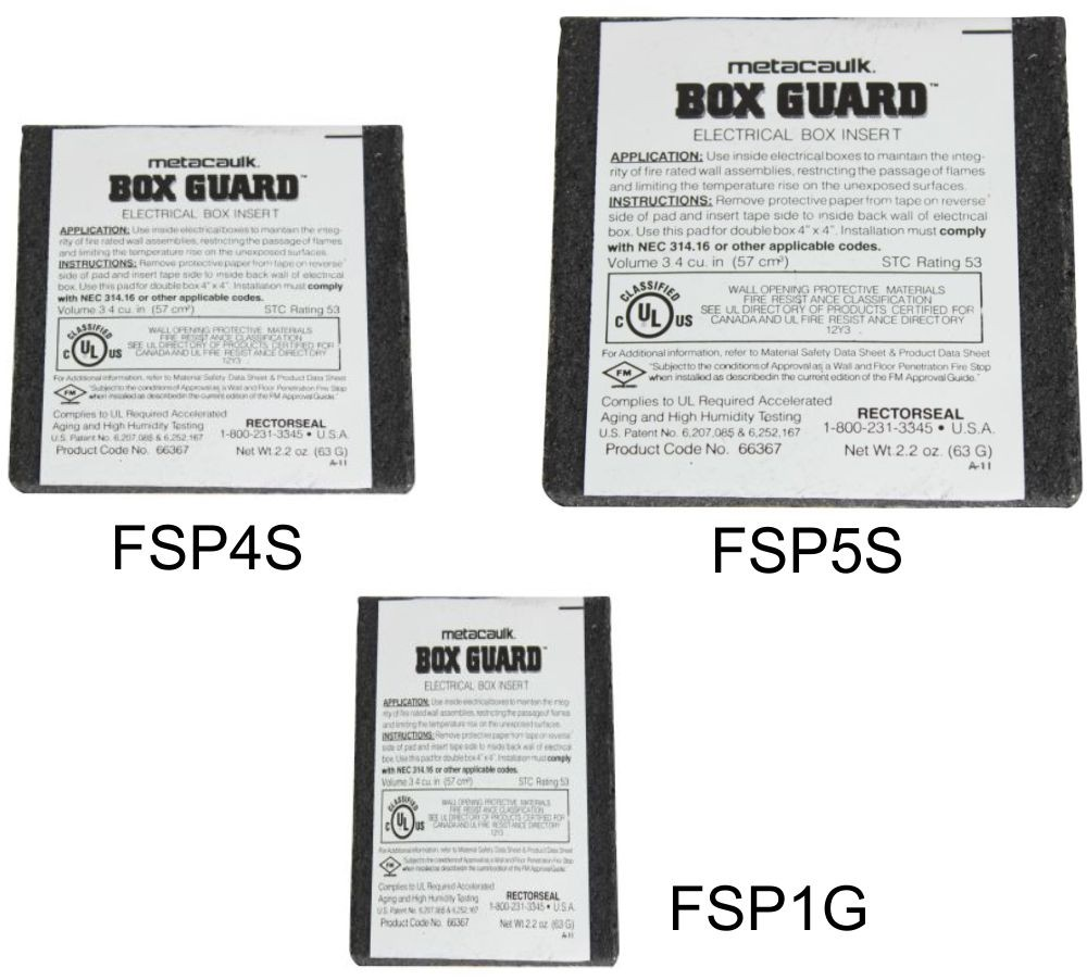 FIRESTOP PADS FOR ELECTRICAL BOXES
