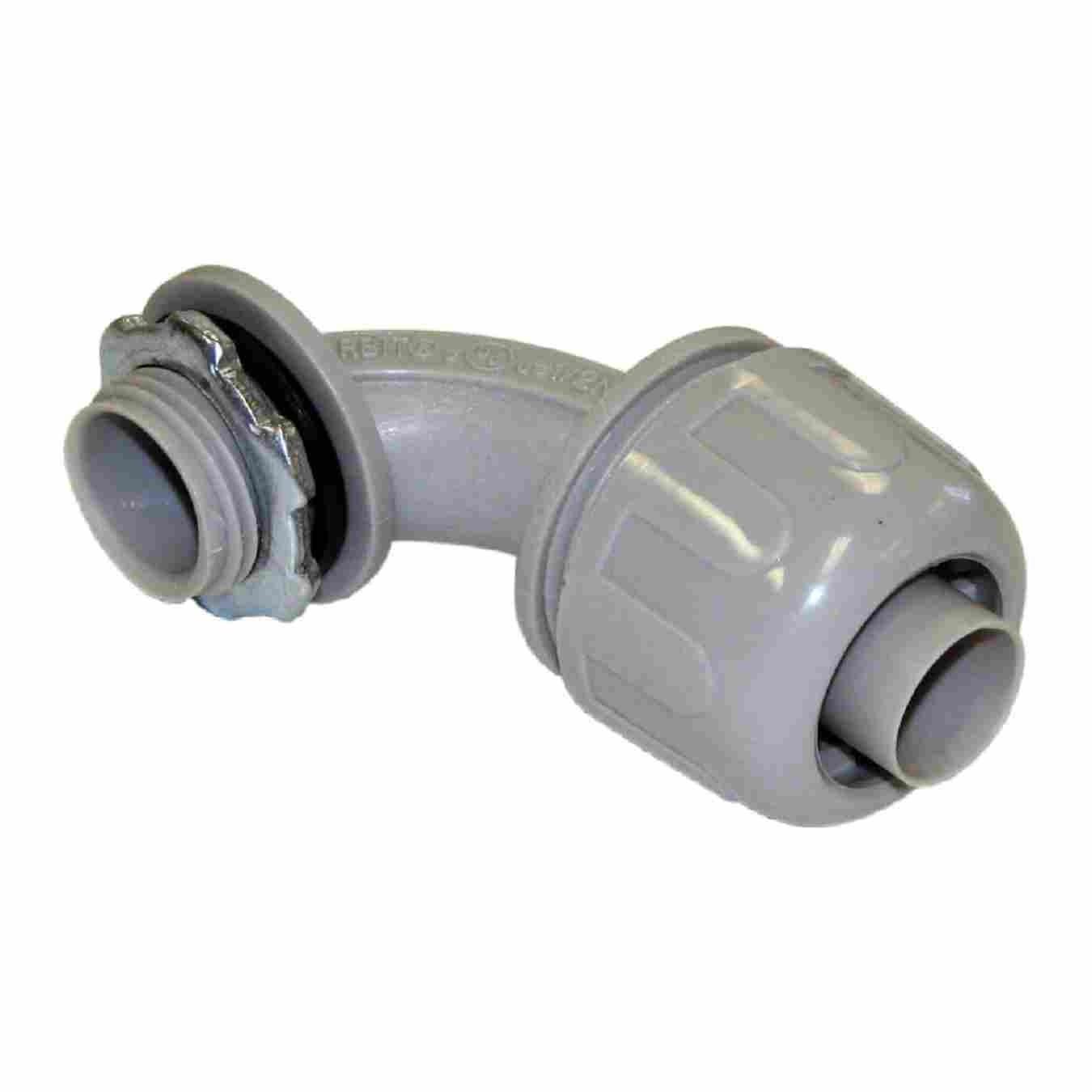 NON-METALLIC (PVC) LIQUID TIGHT CONNECTORS 90° ANGLE