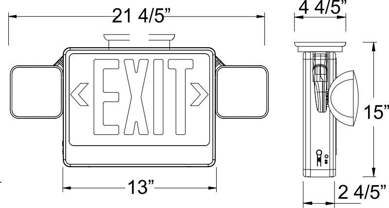 Eecla Exit Sign Amp Emergency Light Combo Exit