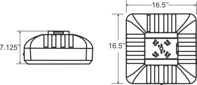 lcm6 - led canopy lights