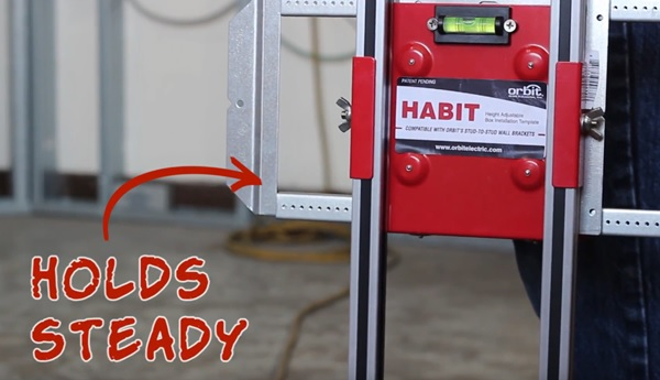 Magnets holding bracket assembly on HABIT