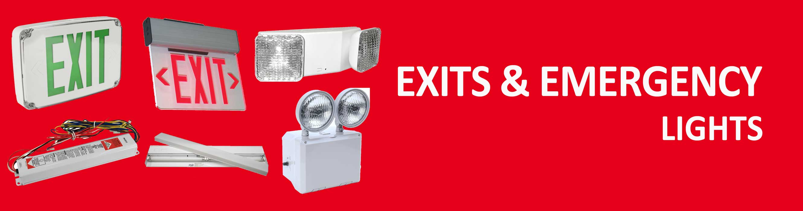 exit and emergency lights section