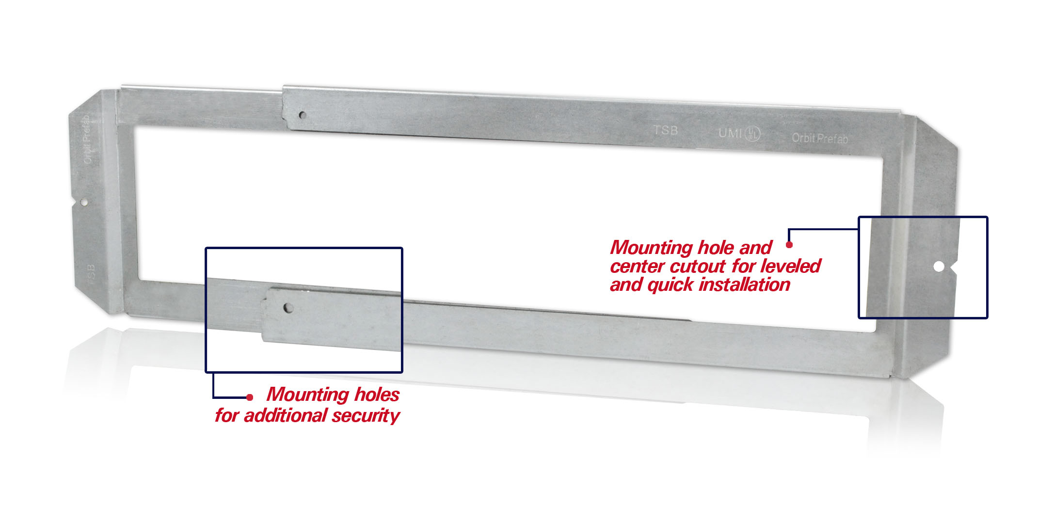 TSB mounting hole and centerline marking